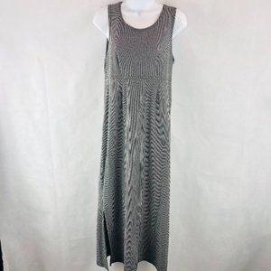 Dressing Clio Black Gray White Stripe Maxi Dress S